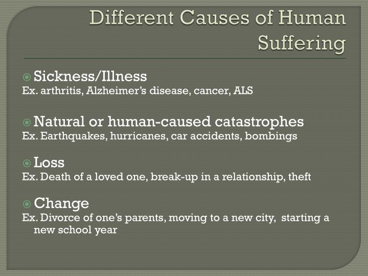 Different Causes of Human Suffering