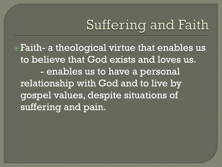 Suffering and Faith