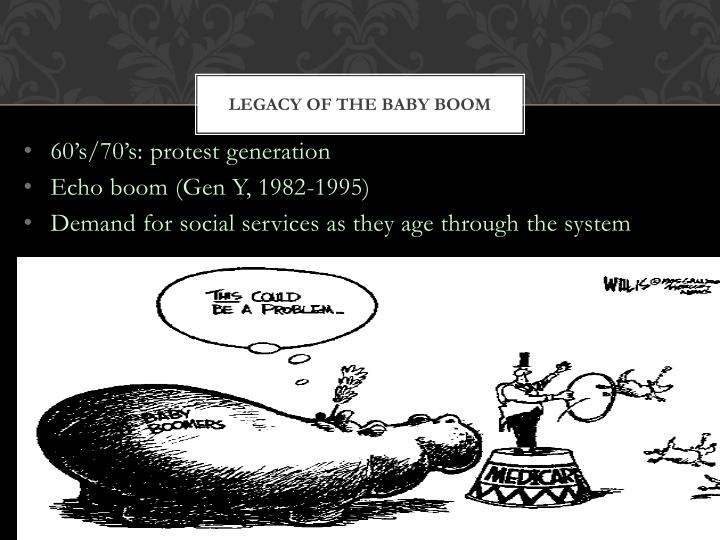 Legacy of the baby boom