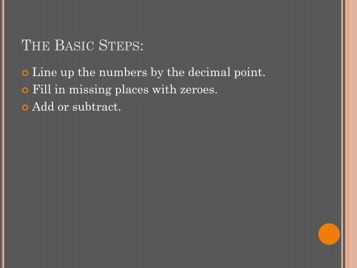 The Basic Steps: