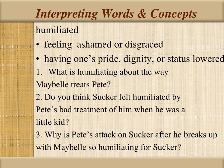 Interpreting Words & Concepts