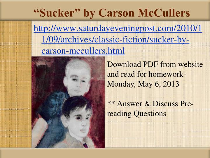 Sucker by carson mccullers