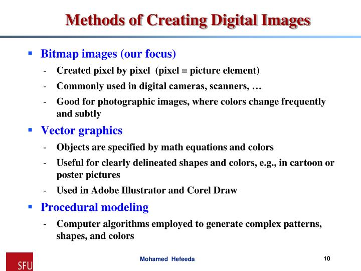 Bitmap images (our focus)