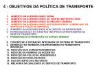 4 objetivos da pol tica de transporte