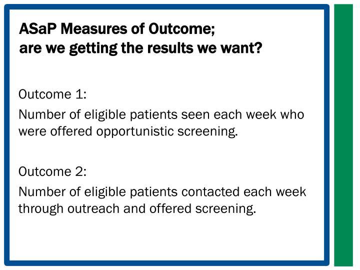 ASaP Measures of Outcome;