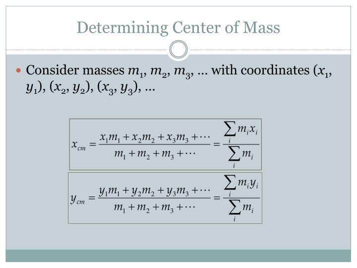 Determining Center of Mass