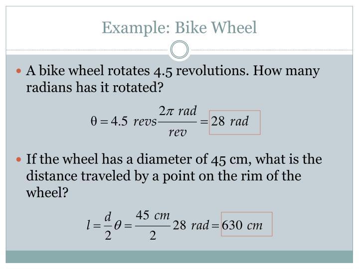 Example: Bike Wheel