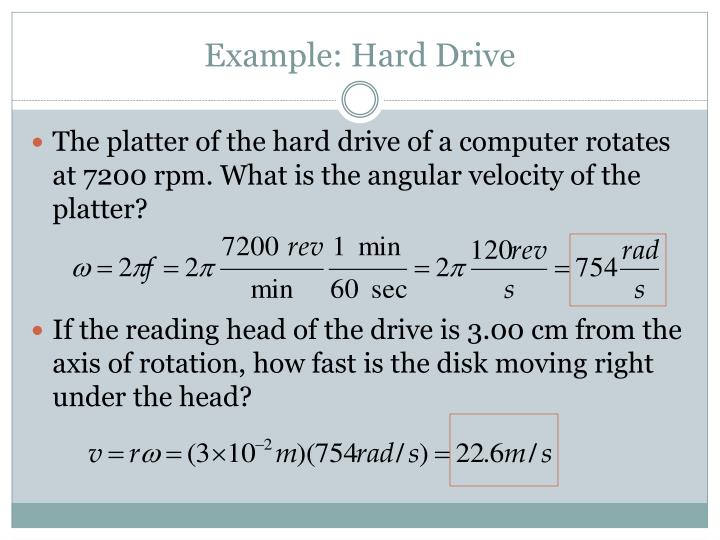 Example: Hard Drive