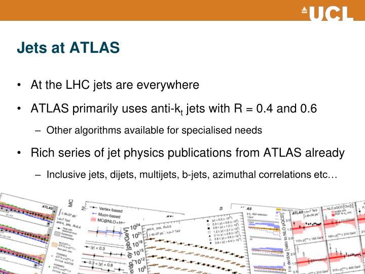Jets at ATLAS