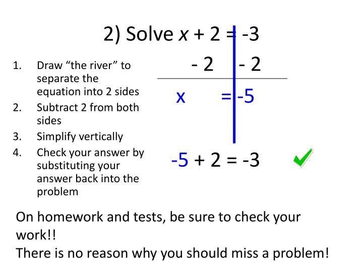 2) Solve
