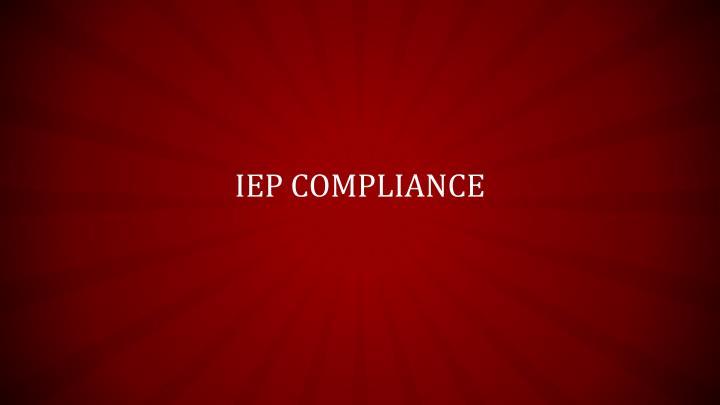 IEP Compliance