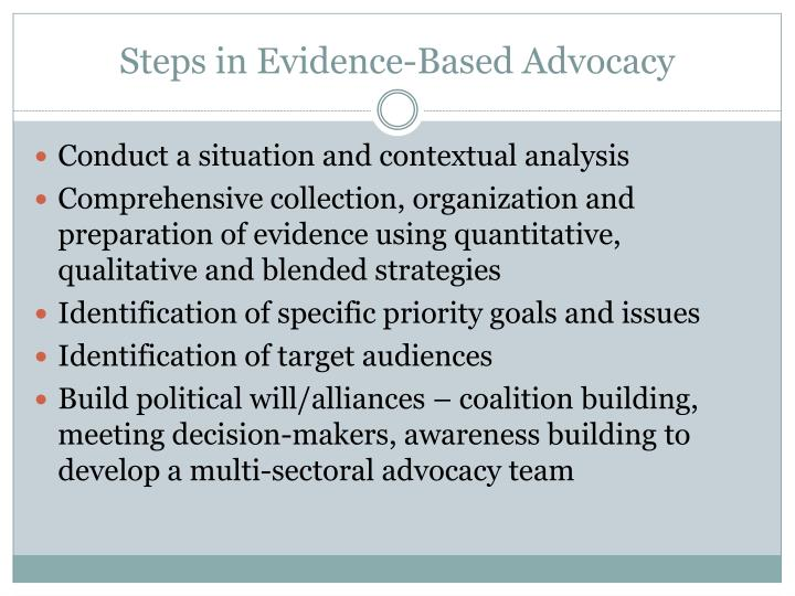 Steps in Evidence-Based Advocacy