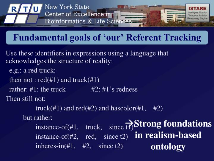 Fundamental goals of 'our' Referent