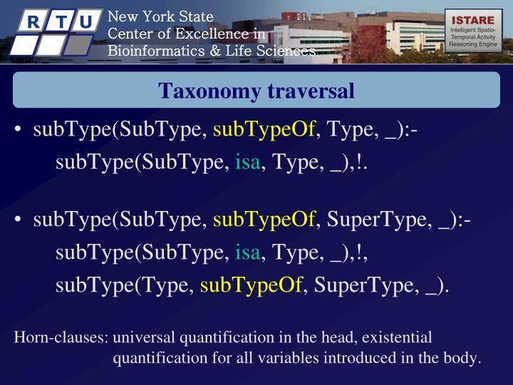 Taxonomy traversal