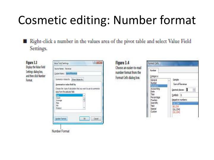 Cosmetic editing: Number format