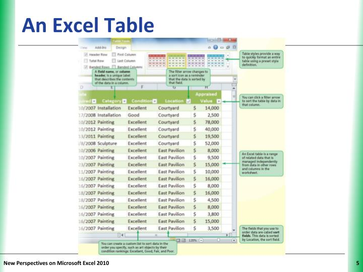 An Excel Table