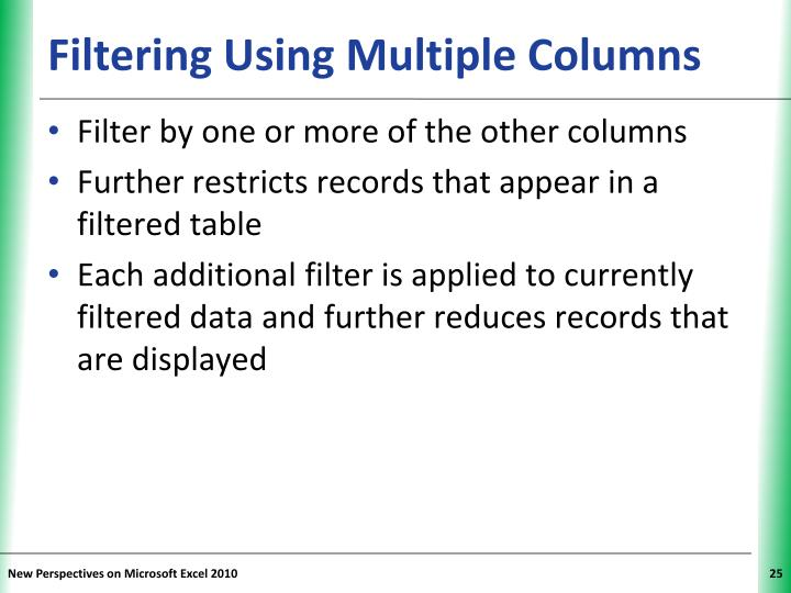 Filtering Using Multiple Columns