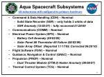 aqua spacecraft subsystems