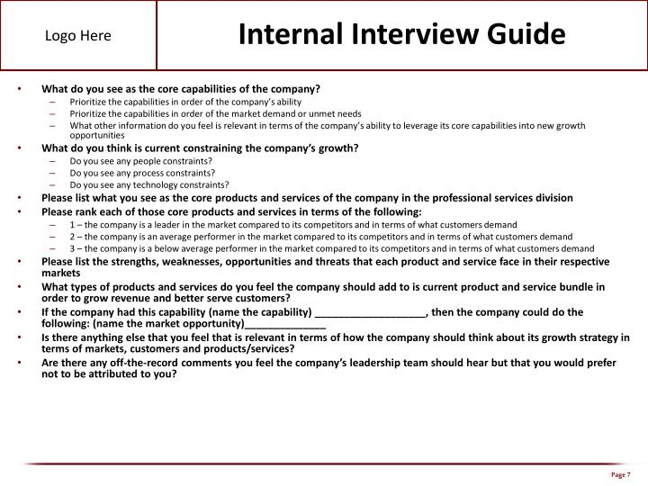 Internal Interview Guide