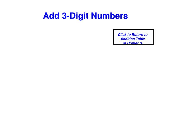 Add 3-Digit Numbers
