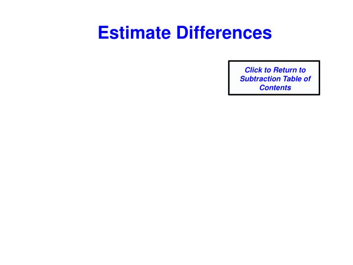 Estimate Differences