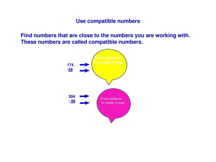 Use compatible numbers