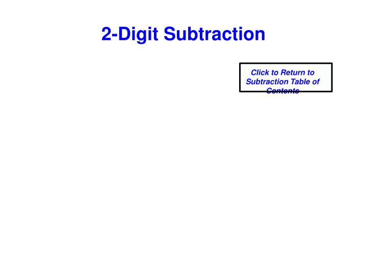 2-Digit Subtraction