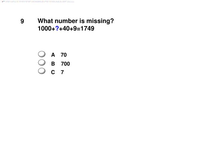 What number is missing?