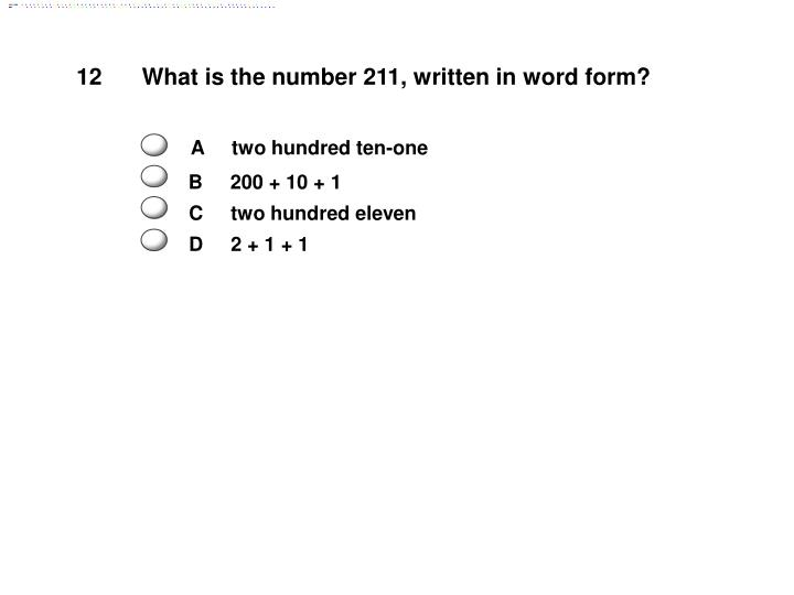 What is the number 211, written in word form?
