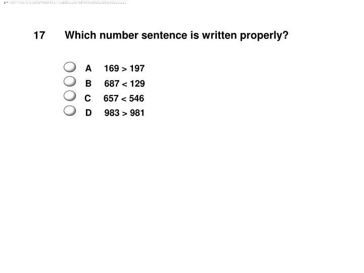 Which number sentence is written properly?