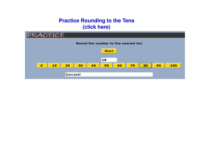 Practice Rounding to the Tens
