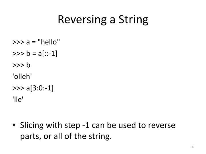 Reversing a String