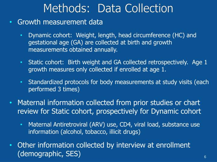 Growth measurement data