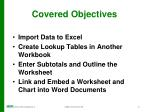 covered objectives1