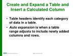 create and expand a table and insert a calculated column3