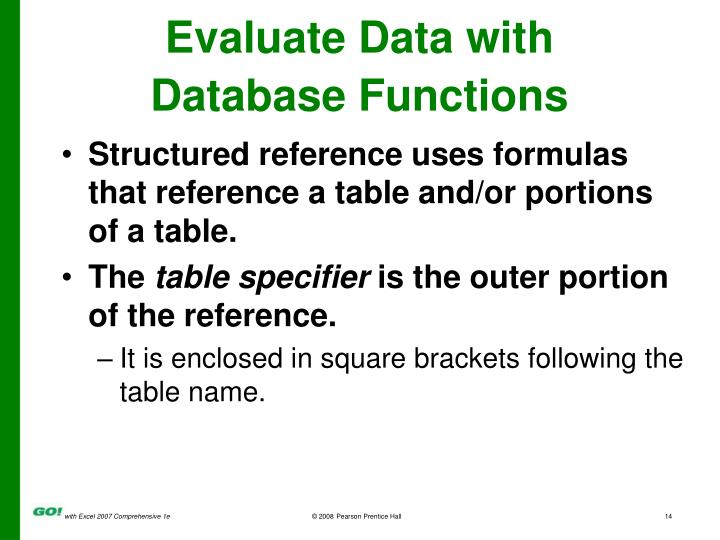 Evaluate Data with