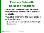 evaluate data with database functions2