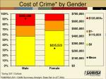 cost of crime by gender