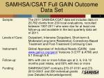 samhsa csat full gain outcome data set