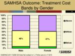 samhsa outcome treatment cost bands by gender