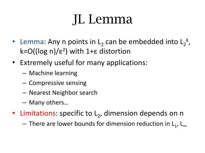 JL Lemma