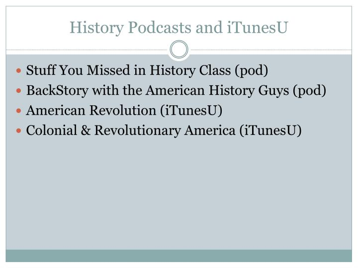 History Podcasts and