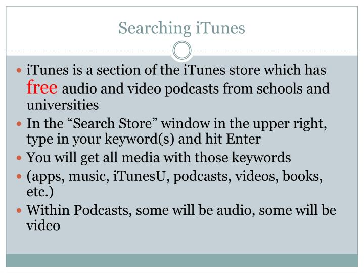 Searching iTunes