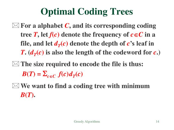 Optimal Coding Trees