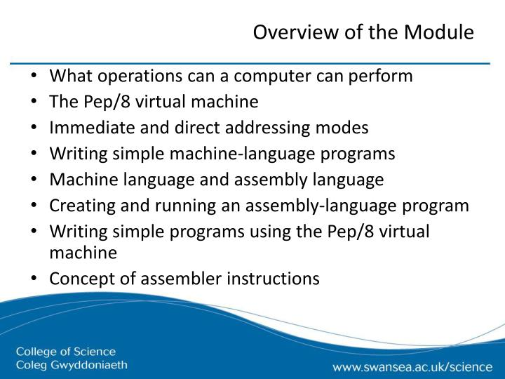 Overview of the Module