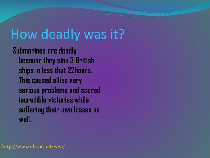 How deadly was it?