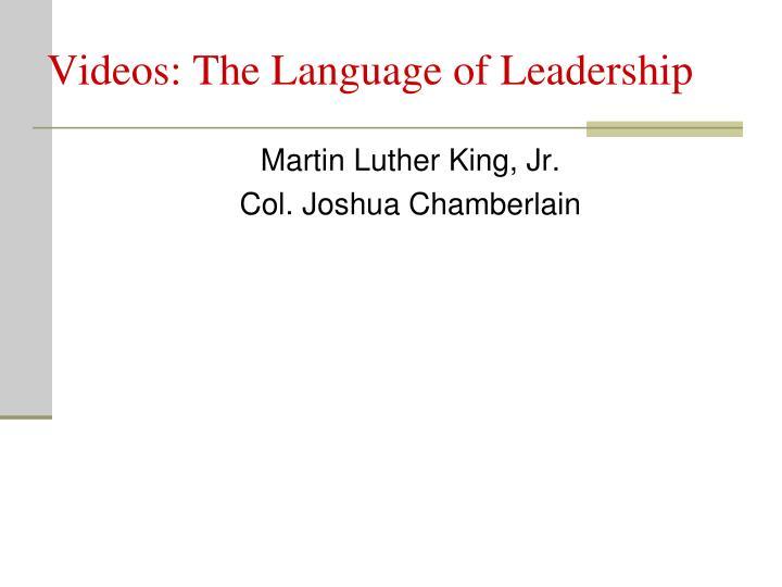 Videos: The Language of Leadership