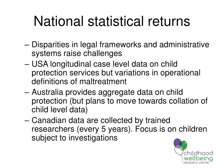 National statistical returns
