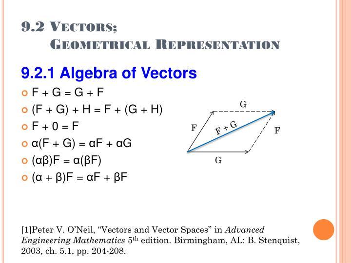 9.2 Vectors;