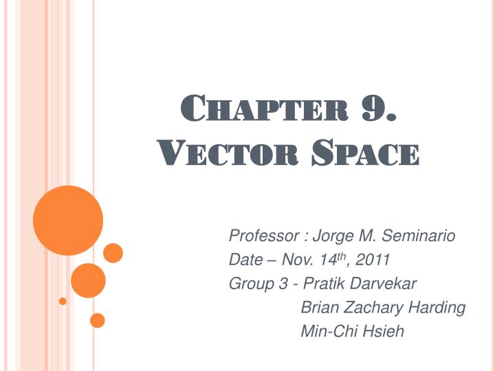 Chapter 9 vector space